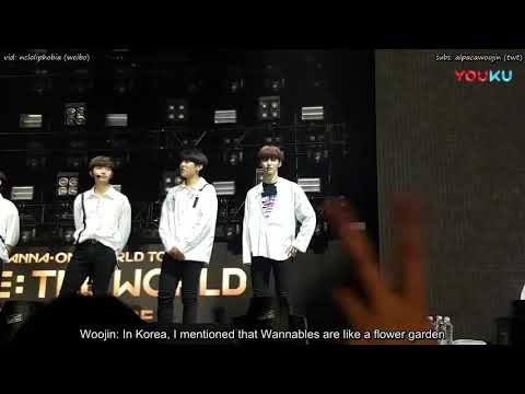[ENG] 180621 Wanna One In San Jose — Woojin's Ment