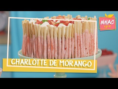 Charlotte de morango com biscoito | Raíza Costa | Rainha da Cocada