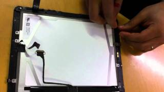 iPAD Glass Digitizer Screen Replacement Repair Tutorial DIY pt.3