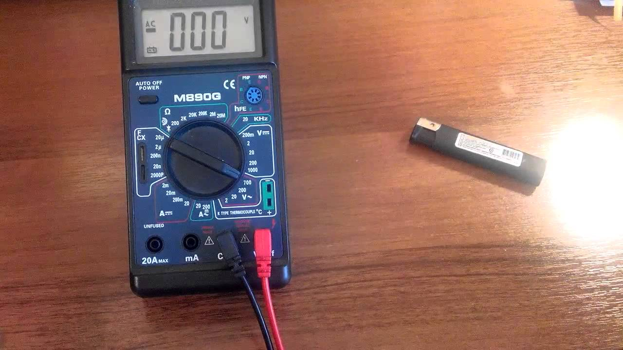 Мультиметр. Датчик температуры.