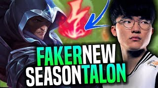 Faker Plays Talon for New Season! - SKT T1 Faker Playing Talon with New Runes Preseason 8! | SKT T1