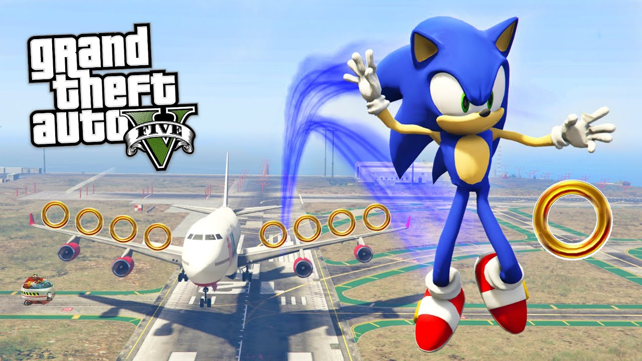 Gta  Mods Ultimate Sonic The Hedgehog Mod Gta  Sonic Mod Gameplay Gta  Mods Gameplay Youtube