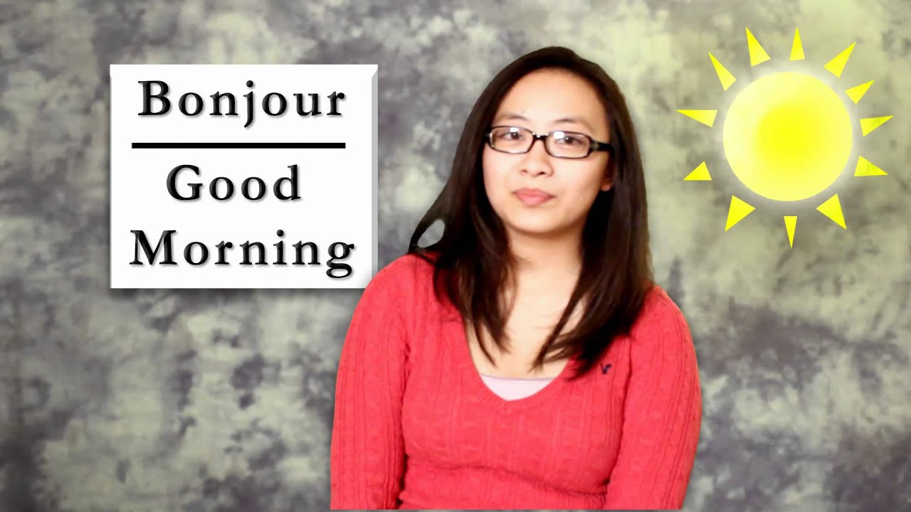 Good Morning Gay In French : French word of the day bonjour good morning youtube