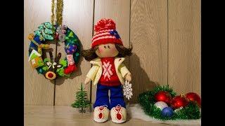 Текстильная кукла своими руками. Кукла большеножка ручной работы.