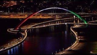 محمد بن راشد يوجه بتسمية أجمل جسر مشاة فى دبى بـ