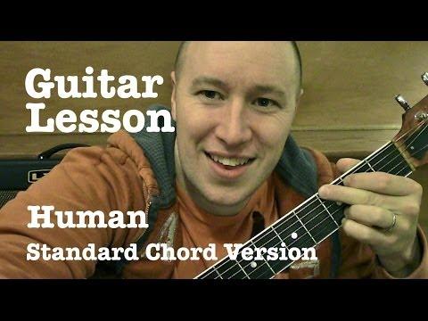 Human ★ Guitar Tutorial ★ Standard Chord Version ★ Christina Perri