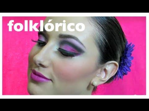 Maquillaje para baile folklorico (escenario)