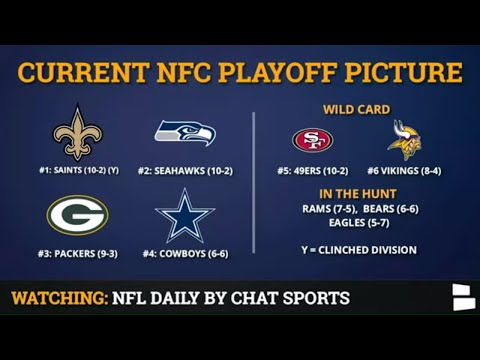 NFL  Playoff Picture: AFC & NFC Clinching Scenarios & Standings Entering Week 14 Of 2019 NFL Season