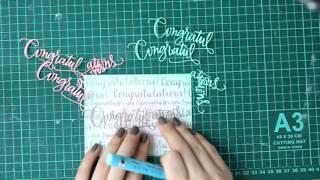 Нетрадиционная Свадебная Открытка ( Card with SimonSaysStamp products)