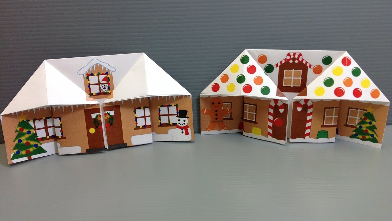 Make Your Own Origami Christmas Gingerbread House - YouTube - photo#31