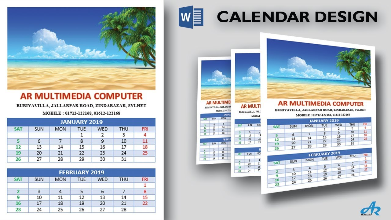 amazing calendars 2019 in microsoft word 2017 tutorialcreate