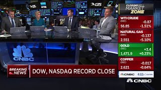 Dow and Nasdaq close at record high