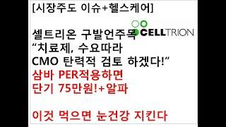 """[시장주도 이슈+헬스케어]셀트리온 발언주목""""치료제, 수…"""