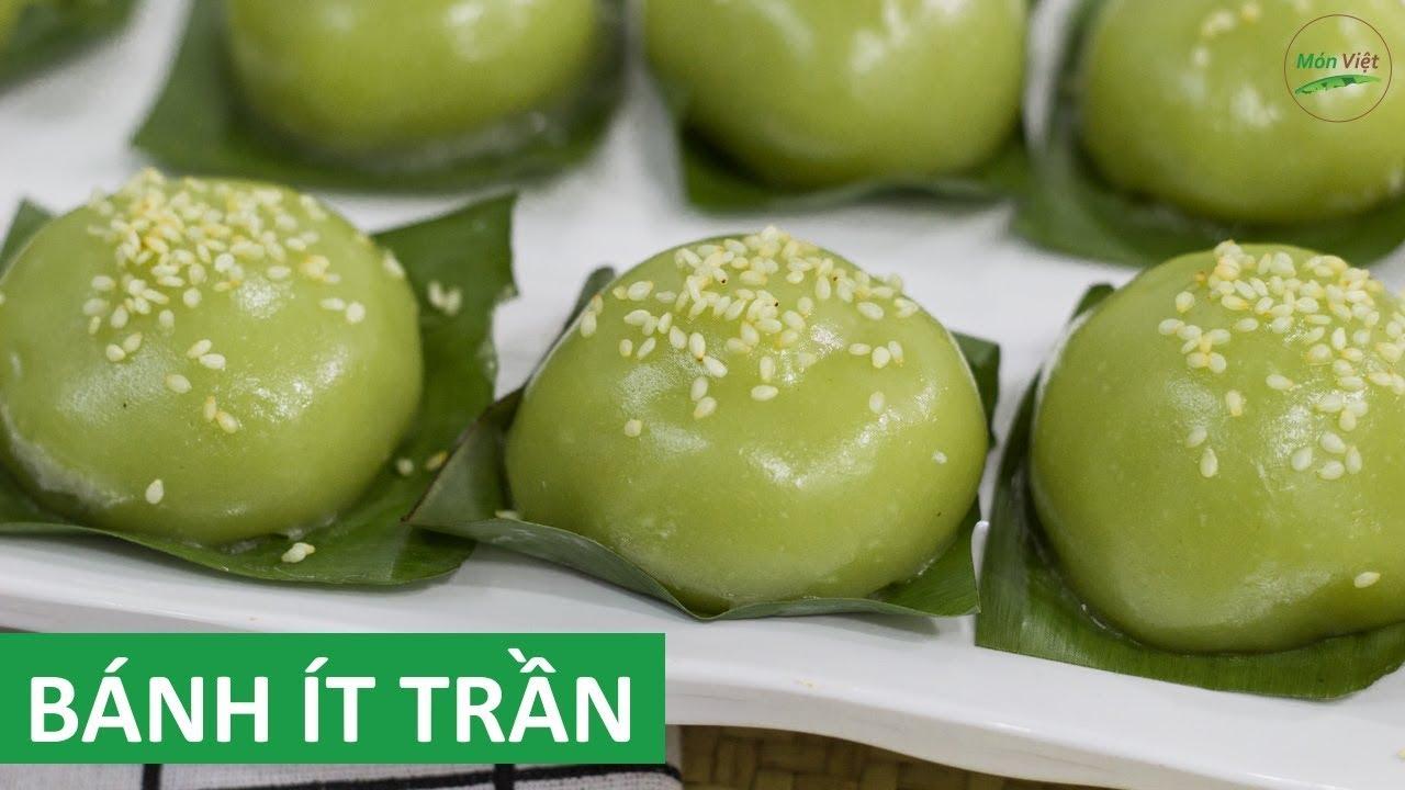 Cách làm Bánh Ít Trần nhân dừa dẻo và trong – màu lá dứa tự nhiên | Món Việt