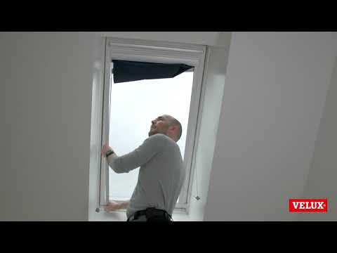 How To Dismount A Velux Blind Youtube