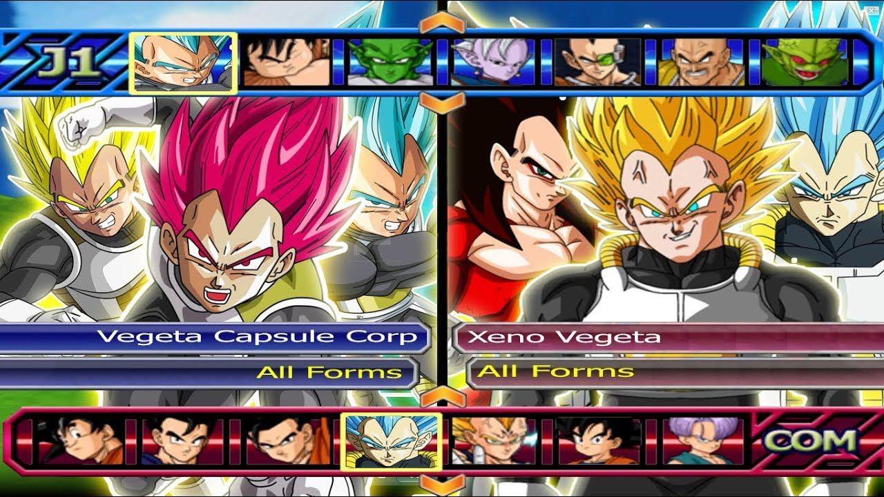 Vegeta capsule corp all forms vs xeno vegeta all forms dragon ball z budokai tenkaichi 3 youtube - Vegeta all forms ...