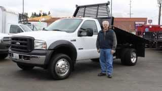 Town and Country Truck #5829:  2006 Ford F550 4x4 12 Ft. Flatbed Dump Truck