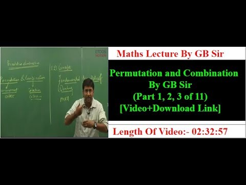P&C By GB Sir (Part 1, 2, 3 of 11) | IITJEE-(Mains+Advance)| Free