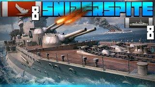 Sniperspite - Warspite 150k dmg 8 Kills || World of Warships