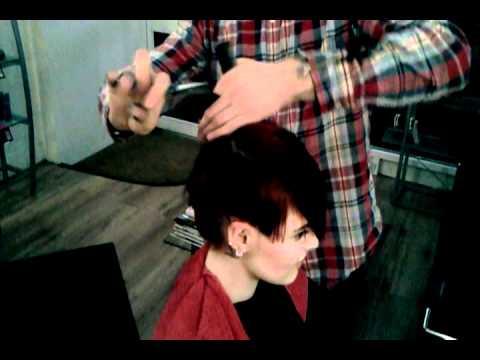 Creative Hair Cut with a Fashionable Colour