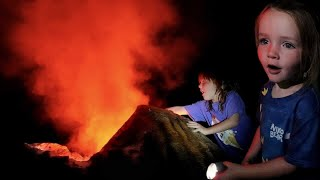 GOiNG iNSiDE the VOLCANO 🌋   Adley & Niko find their new CLUB HOUSE! Secret Floor under the Lava!!
