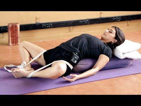 Iyengar Yoga For Menstruation And Period Cramps In Hindi Youtube