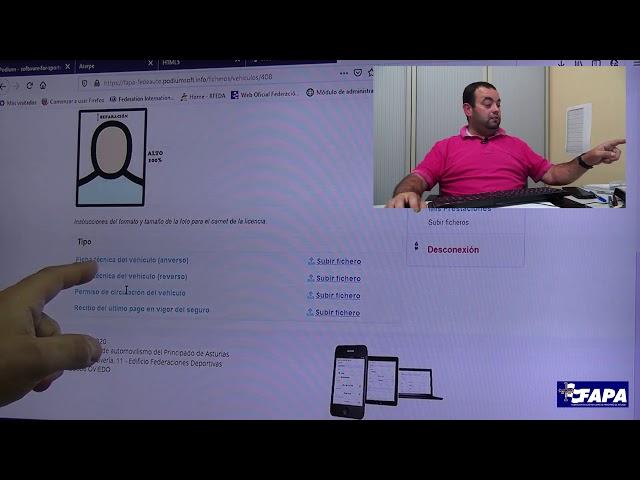 Inscripciones online | fapaonline.es