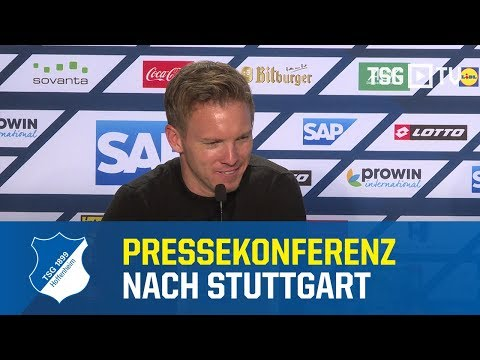 Die Pressekonferenz nach dem Heimsieg gegen den VfB Stuttgart