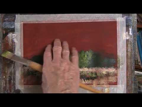 """Meadow."" Acrylic on w/clr paper"