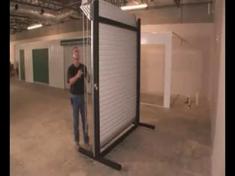 2500 Installation (Commercial Roll Up Door)   YouTube