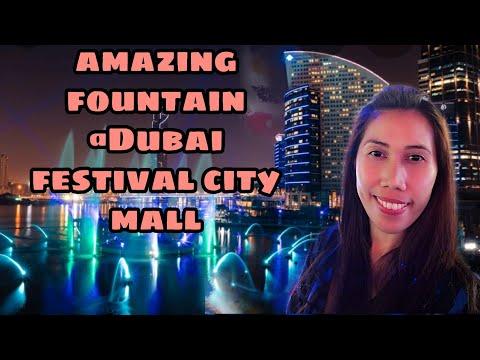 Amazing Fountain @ Dubai Festival City Mall. # my spring break Vacation 2019