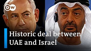 West Bank annexation suspended? Israel-UAE relations normalized under US-brokered deal | DW News