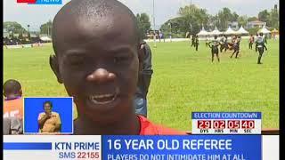 16 year-old Lawrence Ishuga debuts as an official at Nakuru's Prinsloo 7's tourney