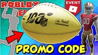 [PROMO-CODE] Wie man Golden Football Gear Item (Roblox) - NFL Event - Free Gear, Rthro & Emotes