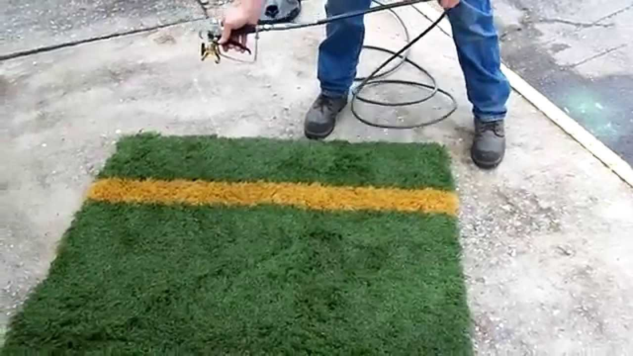 how to paint artificial turf lines youtube