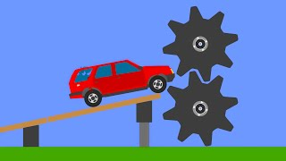 Extreme Car Crashes  Phun Algodoo Moments #9