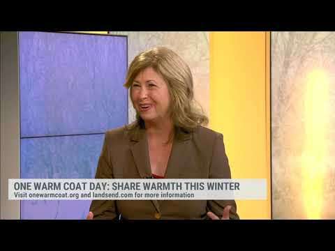 One Warm Coat President & CEO, Beth Amodio, On The Weather Channel For One Warm Coat Day.