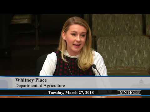 House Agriculture Finance Committee  3/27/18