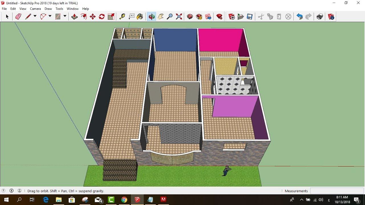 تصميم منزل 150 متر مخطط الدور الاول اسكتش اب Youtube