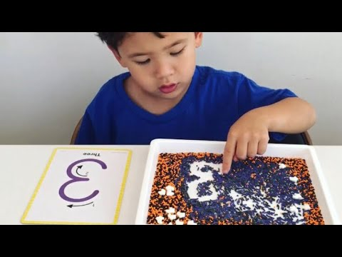 Halloween Sprinkles Number Writing - kids learning activity