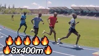 Lagat, Chelanga, Sambu And Abdirahman HAMMER 400m Reps!