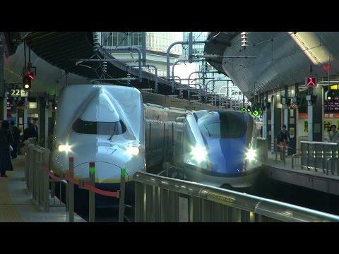 JR東日本 朝の東京駅 新幹線 東海道・北陸・上越・東北 N700・W7・E2・E3・E4・E5・E6・E7系 発車 6時台 2015 .3