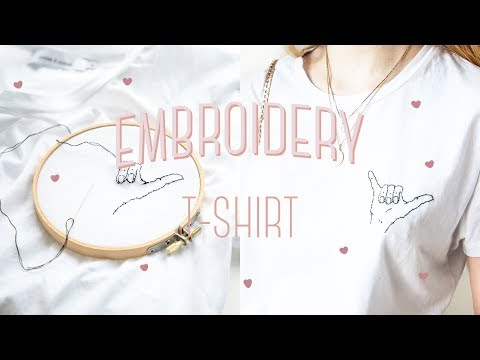 DIY Embroidery t-shirt