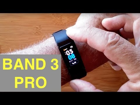 HUAWEI BAND 3 PRO Bright COLOR AMOLED Screen GPS IP68 Waterproof Fitness Band: Unboxing And 1st Look