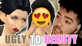 The Sims 4: UGLY TO BEAUTY Challenge (CAS)
