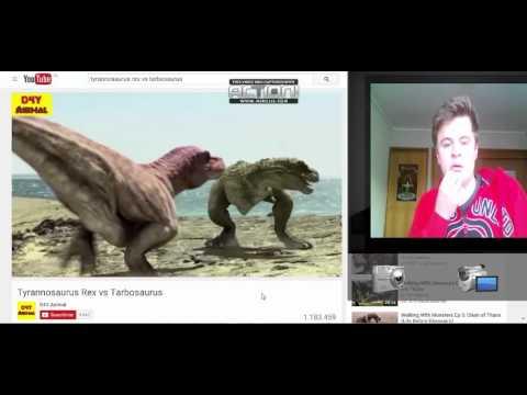 Tyrannosaurus Rex vs Tarbosaurus reaccion
