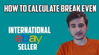 HOW TO Calculate Break Even Percentage for eBay Drop shipping | eBay International Drop shipping