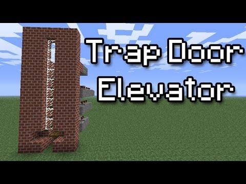 Minecraft Tutorial Trap Door Elevator Easy Youtube