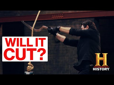 Forged in Fire: Egyptian Khopesh RAZES the Final Round *Cuts Through Bone* (Season 2) | History |