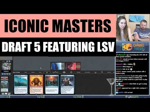 Iconic Masters Draft #5 featuring LSV / Magic: The Gathering MTG